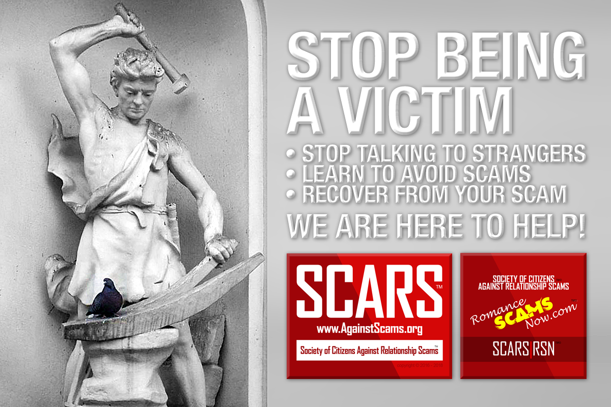 Stop Being A Victim - SCARS|RSN™ Anti-Scam Poster 16