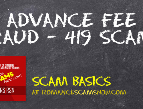 SCARS|RSN™ Scam Basics: Advance Fee Fraud / 419 Scams
