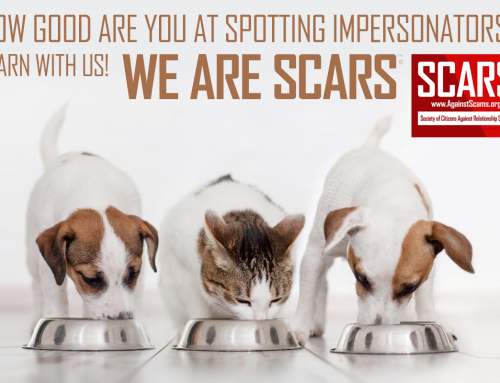 Always Be On Guard For Impersonators & Impostors – SCARS|RSN™ Anti-Scam Poster