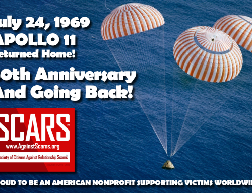 Apollo 11 Returns Home – SCARS|RSN™ Anti-Scam Poster