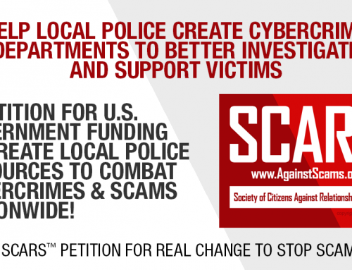 SCARS|RSN™ Advocacy: Local Law Enforcement Everywhere Needs Cybercrime Specialists On Staff – Help Stop Scams