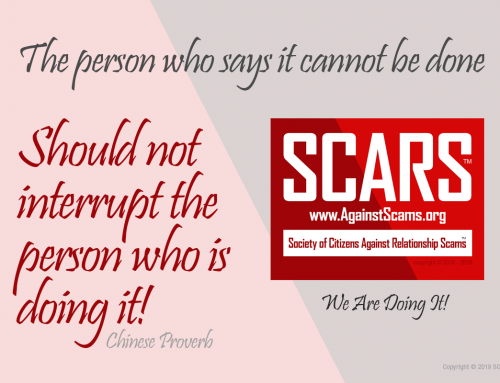 It Can Be Done – SCARS|RSN™ Anti-Scam Poster