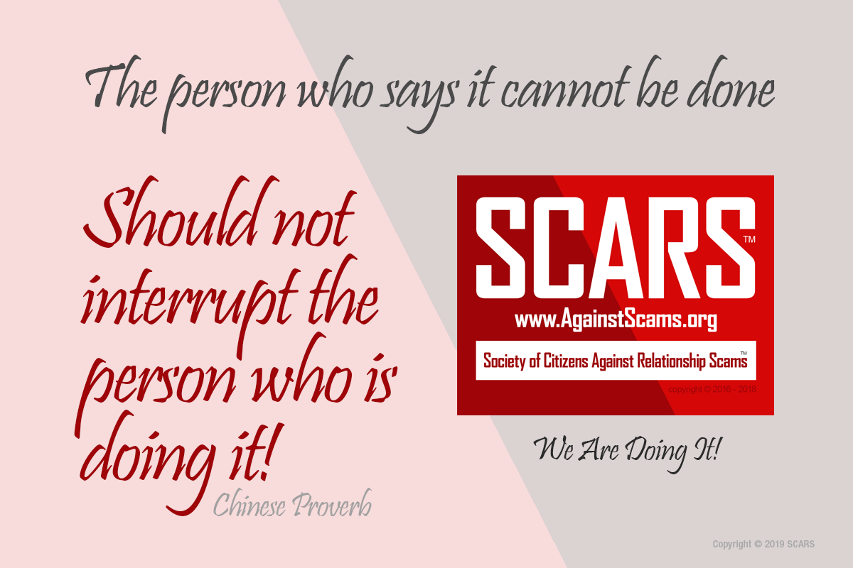 It Can Be Done - SCARS™ Anti-Scam Poster 1