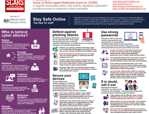 Workplace Cybersecurity – SCARS|EDUCATION™ Anti-Scam Poster