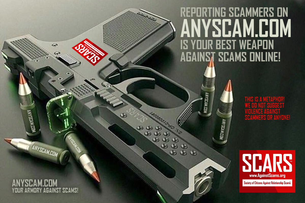 Anyscam.com Is Our Weapon Against Scammers - SCARS™ Anti-Scam Poster 21