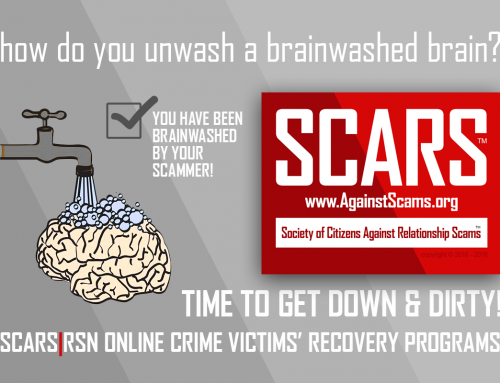 Brain Unwashing – SCARS™ Anti-Scam Poster
