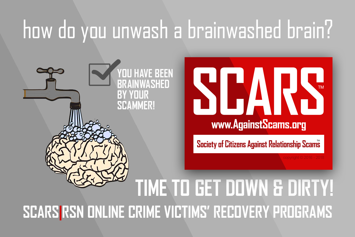 Brain Unwashing - SCARS™ Anti-Scam Poster 1