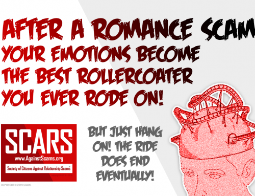 Scams Are Like Rollercoasters For Your Brain – SCARS|RSN™ Anti-Scam Poster