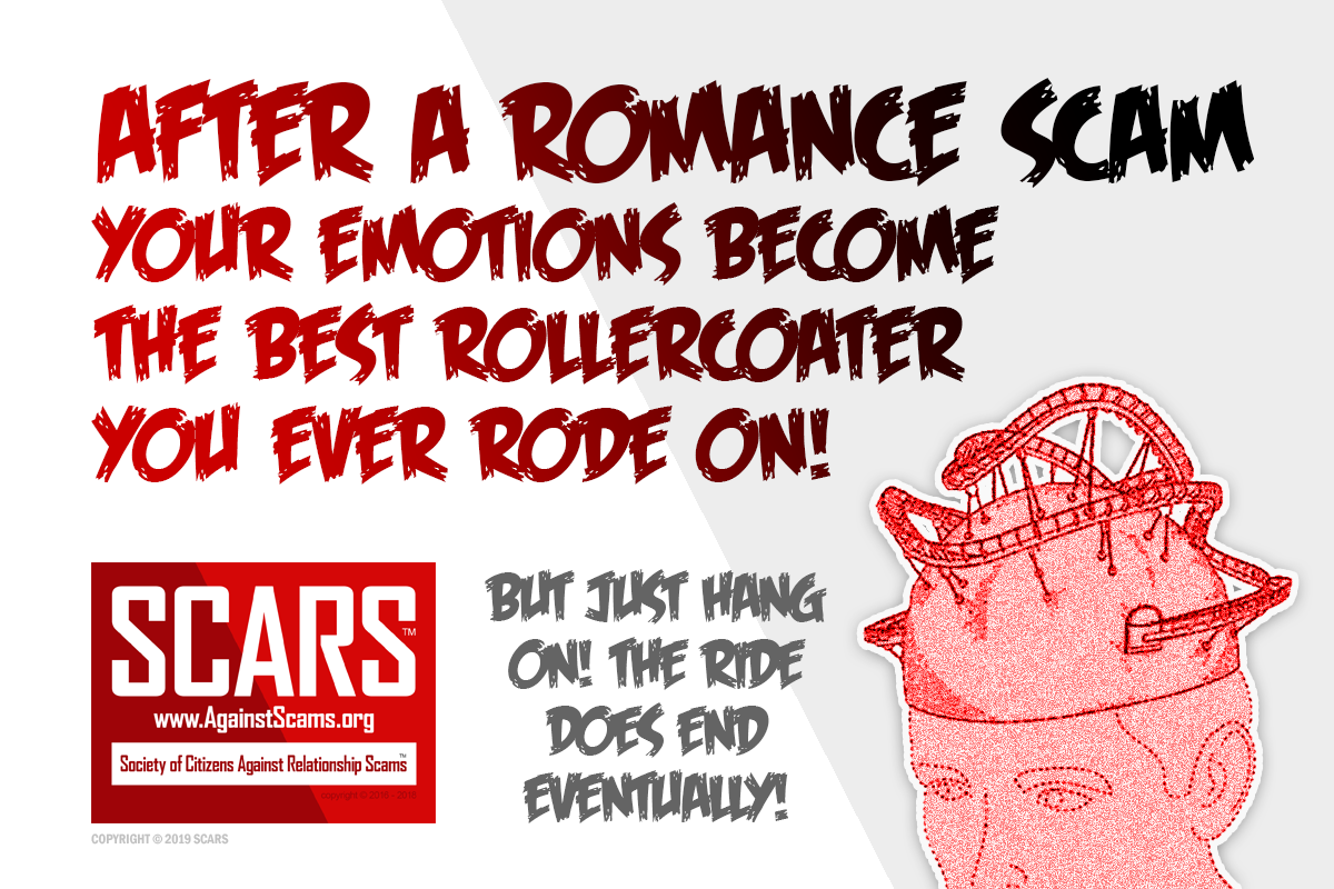 Scams Are Like Rollercoasters For Your Brain - SCARS™ Anti-Scam Poster 1