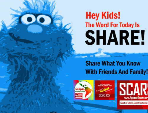 Word For Today: Share – SCARS|RSN™ Anti-Scam Poster