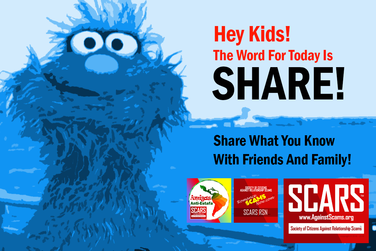 Word For Today: Share - SCARS|RSN™ Anti-Scam Poster 7
