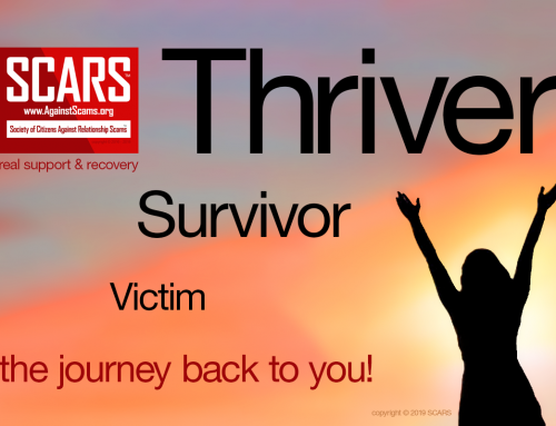 Victim Survivor Thriver – SCARS|RSN™ Anti-Scam Poster