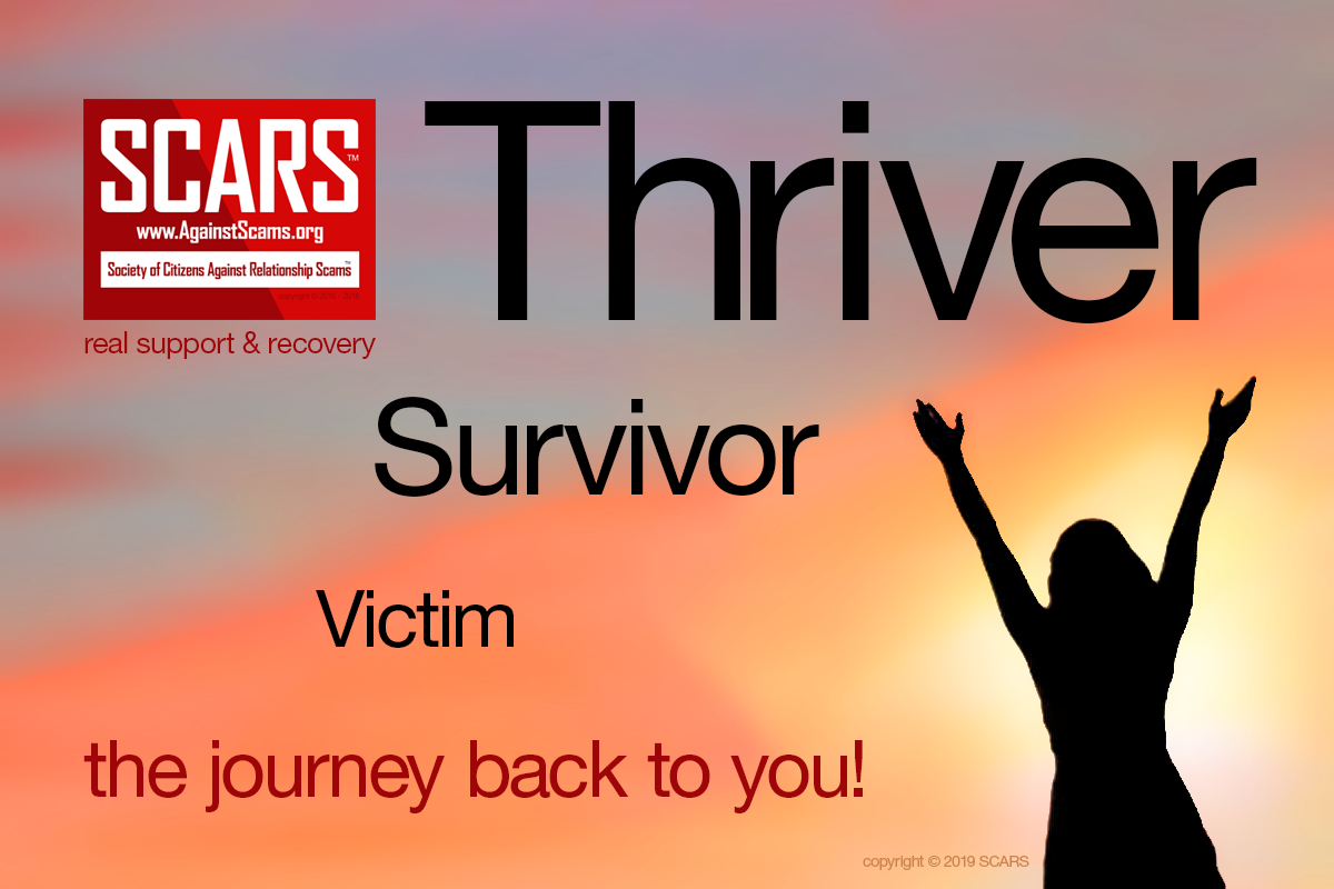 Victim Survivor Thriver - SCARS™ Anti-Scam Poster 13