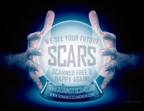 We See Your Future Scammer Free – SCARS|RSN™ Anti-Scam Poster