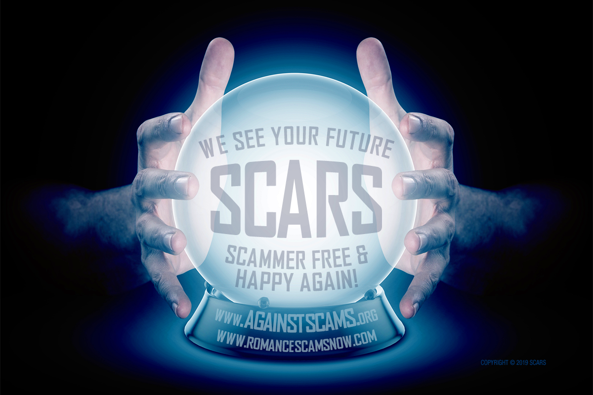 We See Your Future Scammer Free - SCARS|RSN™ Anti-Scam Poster 7
