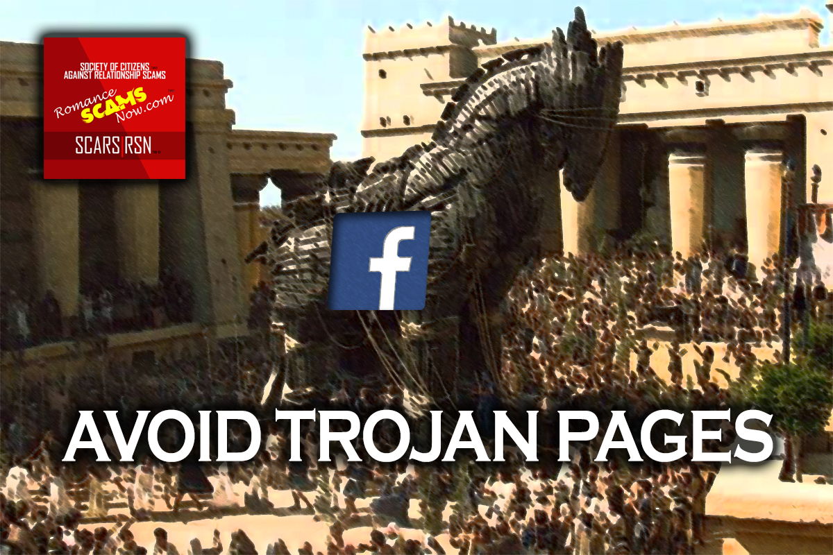 Avoid Trojan Pages - SCARS™ Anti-Scam Poster 1