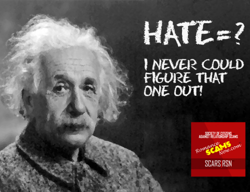 Hate = ? – SCARS|RSN™ Anti-Scam Poster