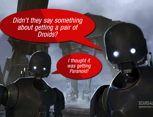 Get A Pair Of Droids – SCARS|EDUCATION™ Anti-Scam Poster