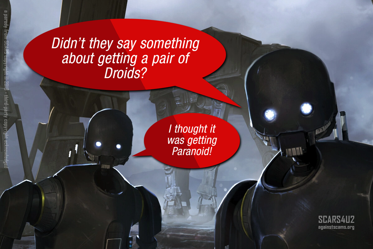 Get A Pair Of Droids - SCARS™ Anti-Scam Poster 1