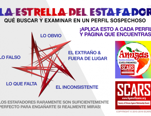 La Estrella Del Estafador – SCARS|EDUCATION™ Anti-Scam Poster
