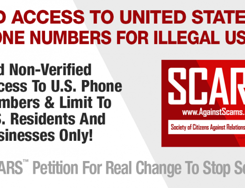 SCARS|ADVOCACY™ Petition: Ban Access To U.S. VOIP Phone Numbers Without U.S. Residence or Incorporation Verification