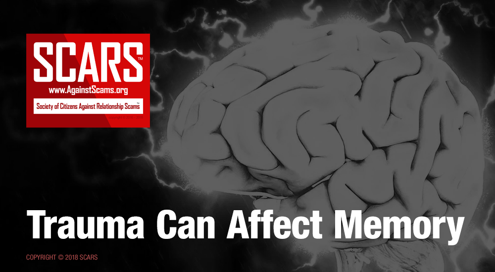 SCARS|RSN™ Psychology of Scams: How Trauma Can Impact Four Types of Memory [Infographic] 2
