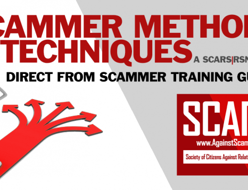 SCARS|RSN™ Scammer Methods: The Distance – A Scammer's Primer – Part 4
