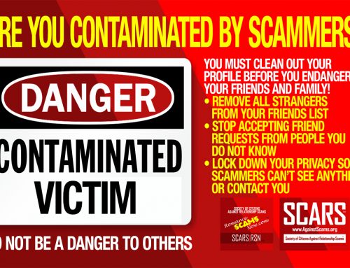 Are You Contaminated With Scammers – SCARS|RSN™ Anti-Scam Poster