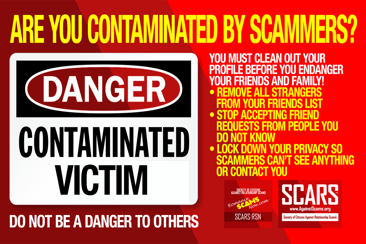 Are You Contaminated With Scammers - SCARS|RSN™ Anti-Scam Poster 2