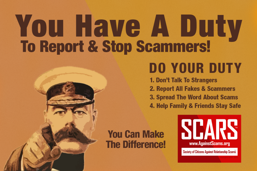 Do Your Duty - Stop Talking With Strangers Online And Report All Scammers