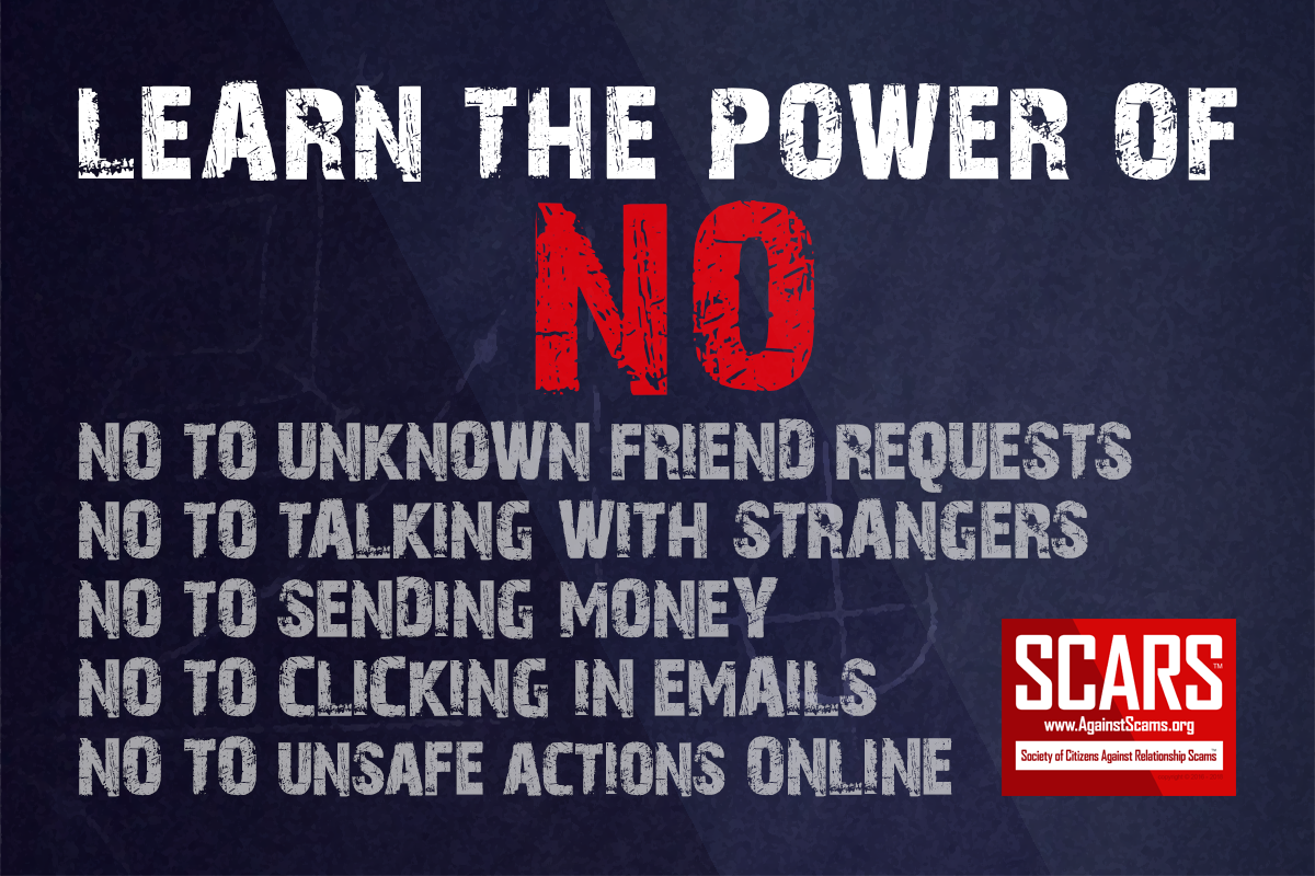 Learn The Power Of No - SCARS|RSN™ Anti-Scam Poster 1