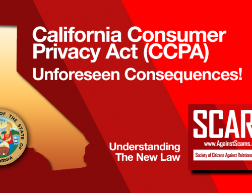 SCARS|RSN™ Special Report: The New Horror Show – The California Consumer Privacy Act