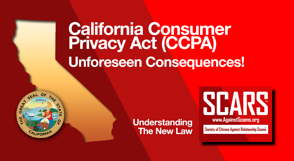 The California Consumer Privacy Act - CCPA