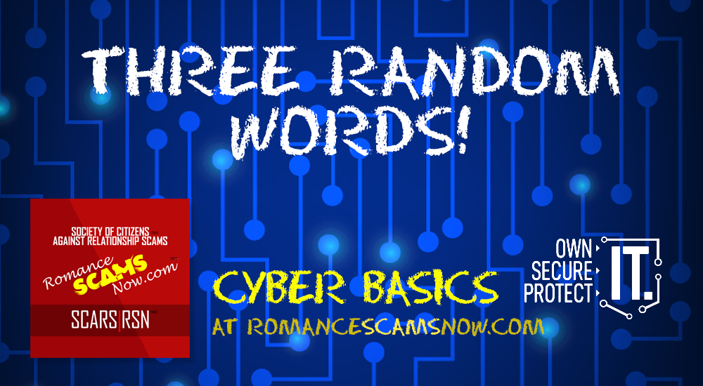 SCARS|RSN™ Cyber Basics: Three Random Words 1