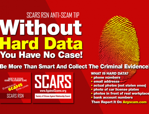 Hard Data – SCARS™ Anti-Scam Poster