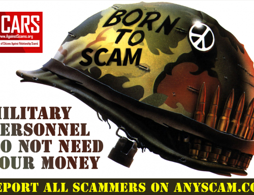Soldiers Do Not Need Your Money – SCARS|RSN™ Anti-Scam Poster