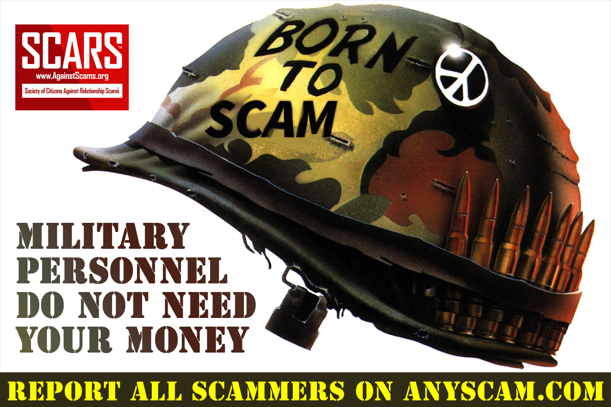 Soldiers Do Not Need Your Money - SCARS™ Anti-Scam Poster 2