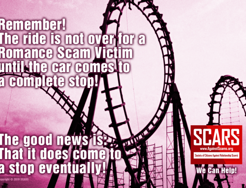 Hang On, The Ride Is Not Over – SCARS™ Anti-Scam Poster