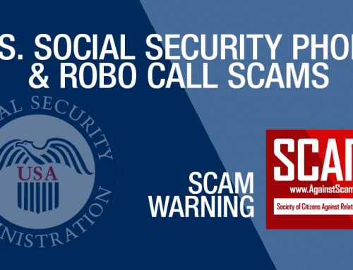 SCARS|EDUCATION™ Scam Warning: Social Security Is Not Trying To Take Your Benefits [Audio & Infographic]