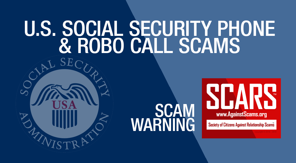 SCARS|RSN™ Scam Warning: Social Security Is Not Trying To Take Your Benefits [Audio & Infographic] 2
