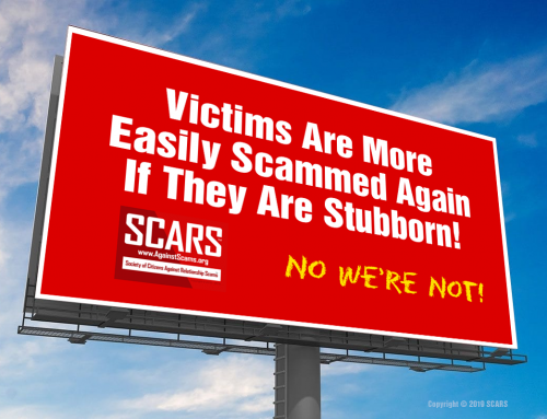 Don't Be Stubborn – SCARS|EDUCATION™ Anti-Scam Poster