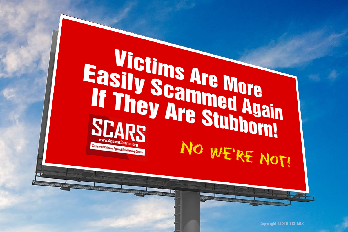 Don't Be Stubborn - SCARS™ Anti-Scam Poster 7
