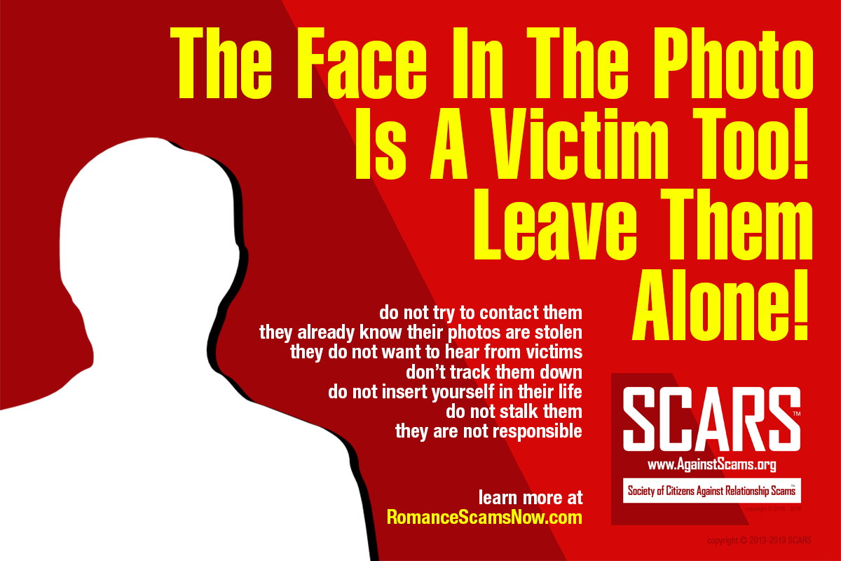 The Face In The Photo Is A Victim Too - SCARS|RSN™ Anti-Scam Poster 10