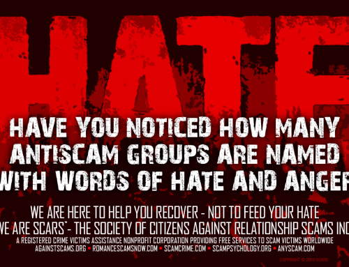 Hate – SCARS|RSN™ Anti-Scam Poster