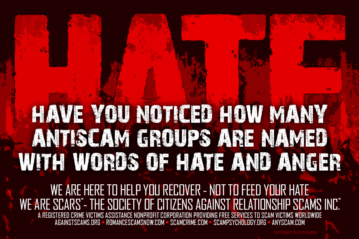 Hate - SCARS™ Anti-Scam Poster 9