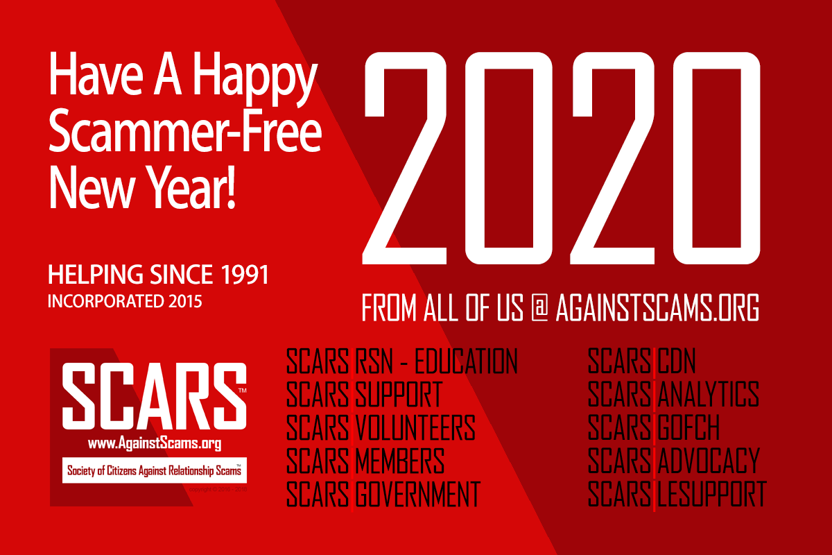 This is SCARS - Society of Citizens Against Relationship Scams Inc.