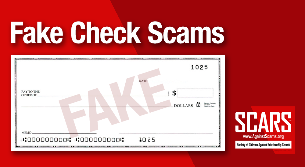 SCARS™ Special Report: Fake Checks Scams 1