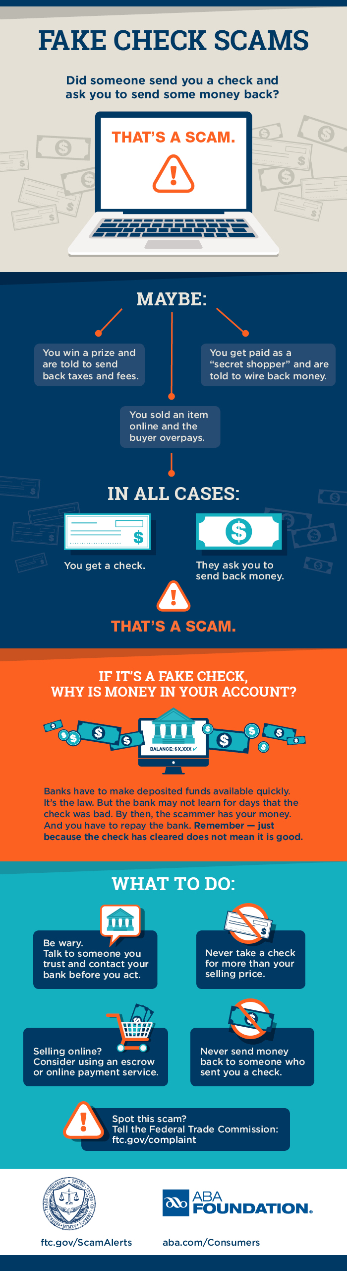 FTC Fake Check Infographic