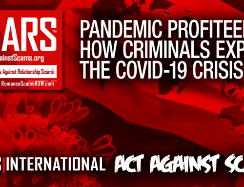 SCARS™ Special Report: How Criminals Are Profiting From The Coronavirus COVID-19 Pandemic