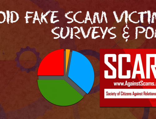 SCARS™ CAUTION: Fake Surveys Of Scam Victims